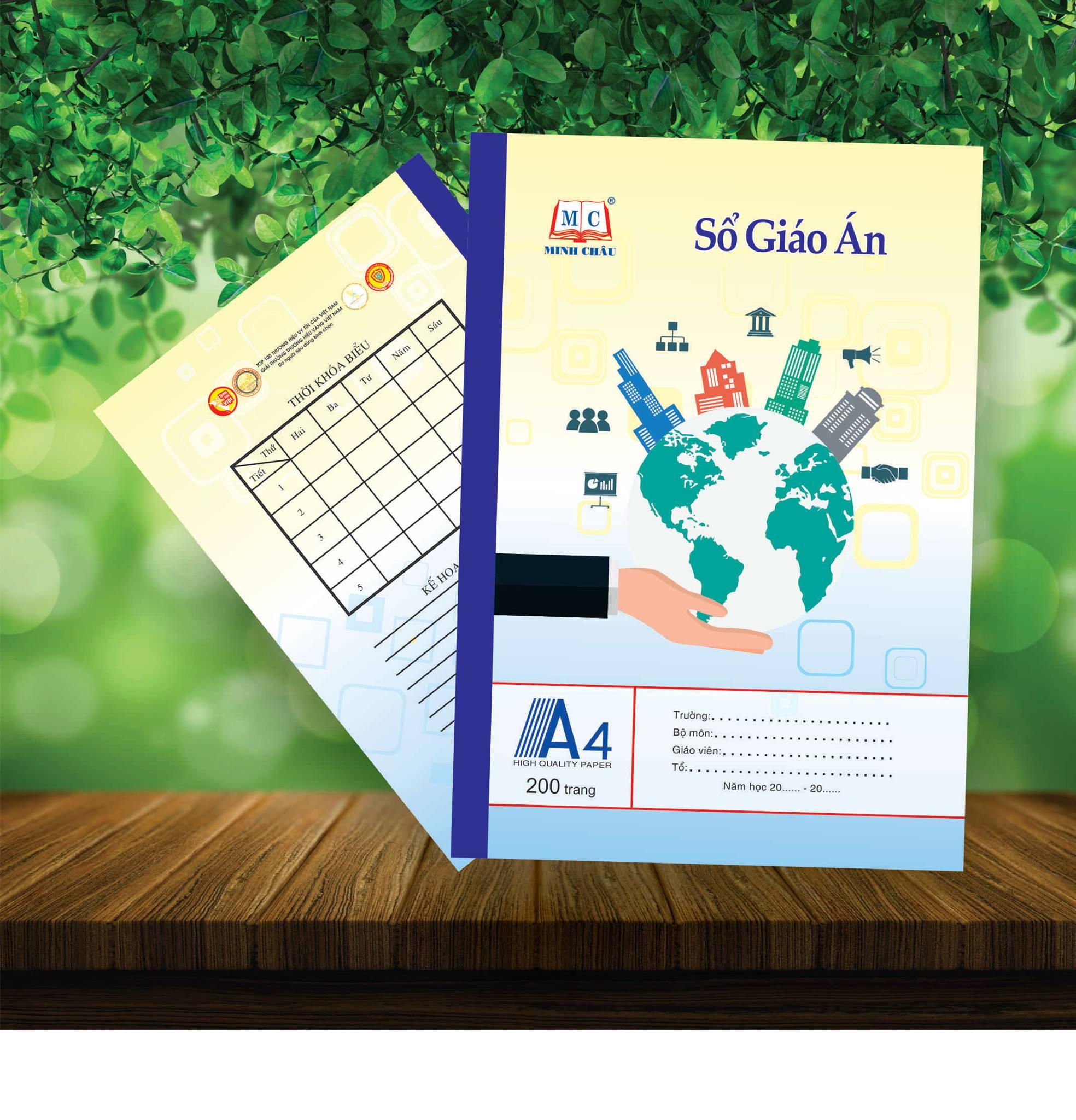 Sổ giáo án A4 - đủ số trang, đủ màu - Minh Châu -