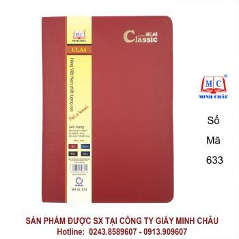 Sổ Classic A4, màu đỏ mận