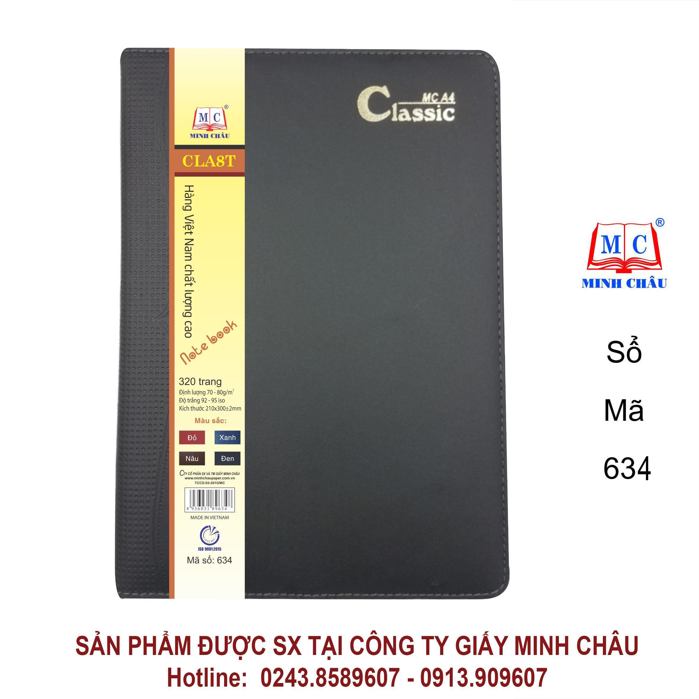 SỔ CLASSIC A4, MÀU ĐEN, đủ số trang