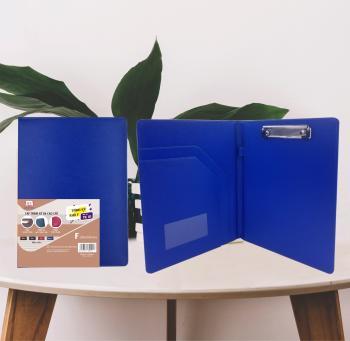 Cặp trình ký da cao cấp TK01  (màu xanh coban)